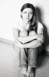 Грустная девушка после расставания